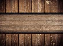 Темная browny поцарапанная деревянная стена, загородка, пол Стоковое Изображение