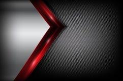 Темное волокно углерода и красный элемент перекрытия резюмируют предпосылку ve иллюстрация вектора