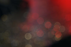 Темное красочное bokeh с красным светом для концепции ночной жизни Стоковая Фотография RF