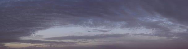 Темное ночное небо Стоковое Изображение RF