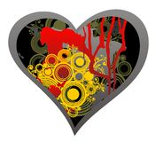 темное сердце grunge иллюстрация штока