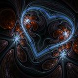 Темное сердце фрактали Стоковые Фото