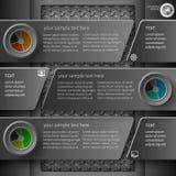 Темное infographics 4 Стоковая Фотография RF