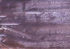 Темной покрашенная сиренью текстура акварели Стоковая Фотография RF