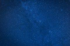 Темносинее ночное небо вполне звезд Стоковая Фотография RF