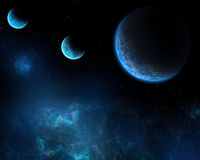Темносиний космос Стоковая Фотография