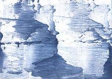 Темносиняя покрашенная иллюстрация акварели Стоковые Изображения RF