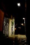 темнота города переулка Стоковое Изображение