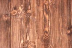Темнота запятнала, огорченная деревянная текстура половой доски Стоковое Изображение