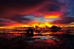 темнота захода солнца Стоковые Изображения RF