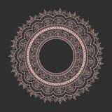 Темнота картины конспекта вектора запаса круговая на свете Стоковое Изображение RF