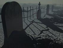 темнота кладбища Стоковое Изображение