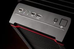 темнота компьютера черного ящика предпосылки Стоковое Фото