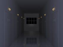 темнота корридора иллюстрация вектора
