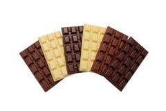 темнота, молоко, белое chocolat Стоковое Изображение