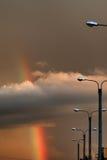 Темнота облака захода солнца радуги светлая Стоковая Фотография RF