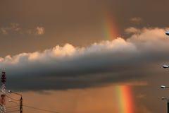 Темнота облака захода солнца радуги светлая Стоковое Изображение RF