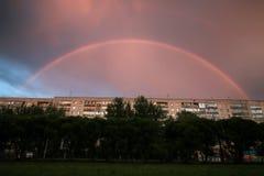 Темнота облака захода солнца радуги светлая Стоковая Фотография
