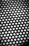темнота предпосылки - серый металл решетки Стоковые Фото
