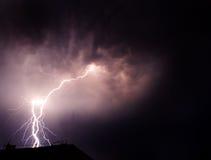 темнота проблескивает молния Стоковые Фотографии RF