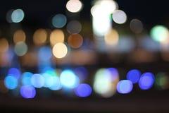 Темнота, светлое bokeh Стоковые Изображения