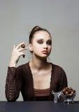 темнота шоколада красотки Стоковое Фото