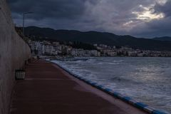Темнота шторма в море Marmara - Турции Стоковое Фото