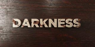 Темнота - grungy деревянный заголовок на клене - представленное 3D изображение неизрасходованного запаса королевской власти иллюстрация штока