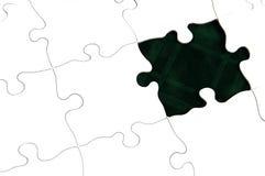 темно - зеленая головоломка Стоковое Изображение