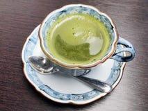 темно - зеленый японский чай Стоковые Изображения RF