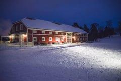 Темно и холода на fredriksten крепость (харчевня) стоковое изображение rf