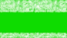 Темно-синая корпоративная предпосылка с абстрактными элементами Infographics 4K технология Зеленый канал альфы экрана