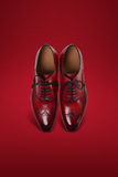 Темные ботинки замши людей Стоковые Фото