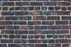 Темные кирпичи, чернят выдержанную предпосылку стены Стоковые Фотографии RF