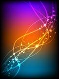 темные накаляя линии вектор Стоковое Фото
