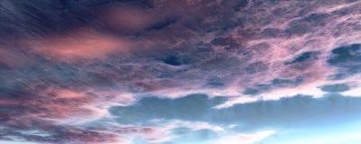 Темные небо, дождь, и облака Стоковое Изображение RF