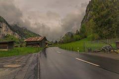 Темные облака причаливают стоковая фотография rf