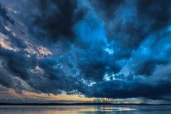 Темные облака шторма Стоковые Изображения RF