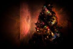Темные отражения рождественской елки стоковые фото