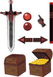 темные установленные иконы Стоковая Фотография RF