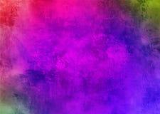 Темные фиолетовые фиолетовые мистические старые передернутые обои предпосылки текстуры картины конспекта Smokey пыли Grunge краси Стоковые Фотографии RF