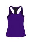 Темные фиолетовые спорт покрывают при racerback, изолированное на белом backgro Стоковая Фотография RF