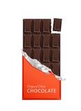 Темные шоколадные батончики конфеты в винтажных оболочках бара Стоковое фото RF