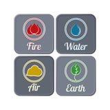Темные экологические значки Стоковые Фотографии RF