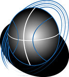 Темный баскетбол Стоковая Фотография