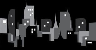 Темный город Стоковая Фотография RF