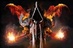 Темный демон cosplay Стоковые Изображения