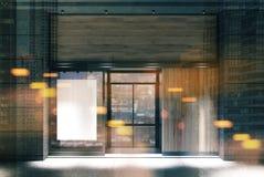 Темный деревянный тонизированный плакат фасада ресторана иллюстрация штока
