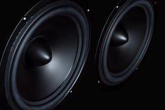 Темный диктор, громкоговоритель, часть столбца музыки Стоковое Фото