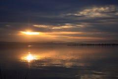 темный заход солнца неба Стоковые Фотографии RF